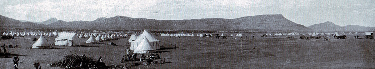 General Gatacre's camp at Queenstown prior to the operation leading to the Battle of Stormberg on 9th December 1899