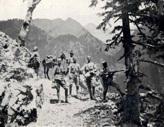 General Gatacre on the road to Chitral during the operations to relieve the Anglo-Indian garrison on the North-West Frontier of India in 1895