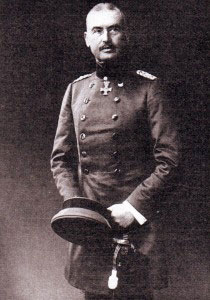 General Eric Liman von Sanders, the German officer given command of the Turkish troops on the Gallipoli Peninsular