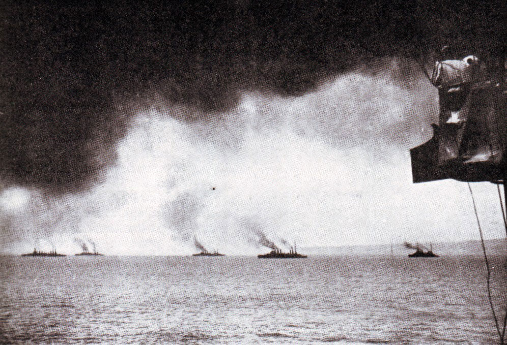 British and French cruisers in the Eastern Mediterranean at the beginning of the First World War