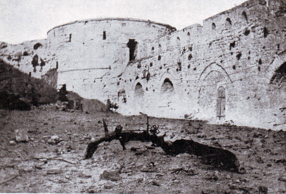 The Old Fort at Sedd el Bahr forming the eastern part of the Turkish defences at V Beach Cape Helles Gallipoli on 25th April 1915