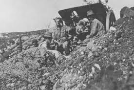 Australian gunners with an 18 pounder field gun on Anzac
