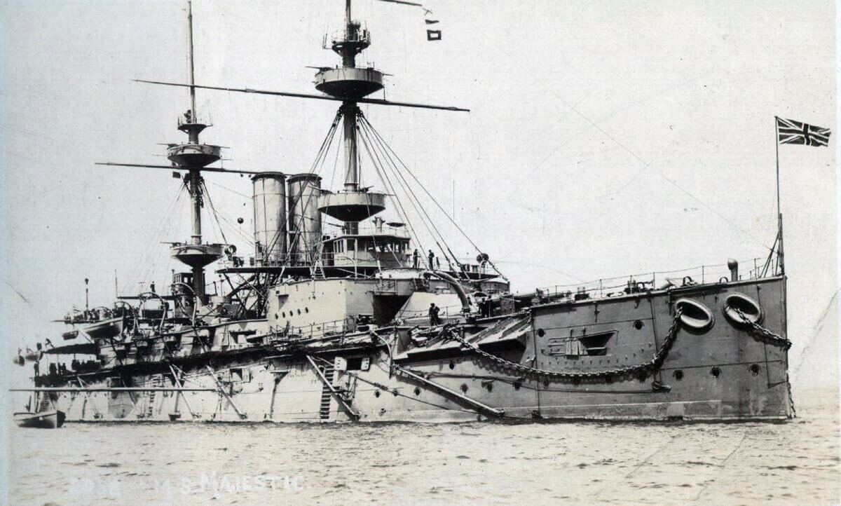 HMS Majestic: British pre-Dreadnought battleship that took part in the attack on the Dardanelles in March 1915