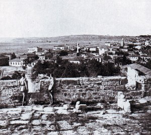 The town of Chanak on the Asiatic coast of the Dardanelles, seen after the War