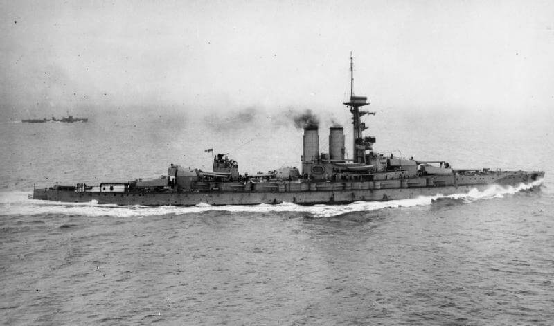 Reşadiye:  One of two battleships under construction in British shipyards in 1914 sold to the Turkish navy, one of these ships financed by Turkish public subscription.  The battleship was commandeered by the British Government and joined the Royal Navy's Grand Fleet as HMS Erin
