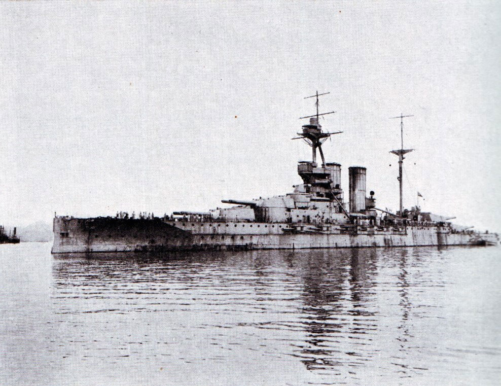 HMS Queen Elizabeth: new British battleship armed with 15 inch guns. Queen Elizabeth was the most powerful battleship in the British Fleet bombarding the Gallipoli Peninsular during the 1915 campaign