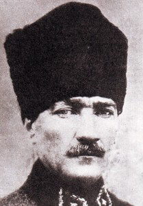 Mustafa Kemal Bey commander of the Turkish 19th Division at Anzac on Gallipoli and after the Great War Turkey's ruler