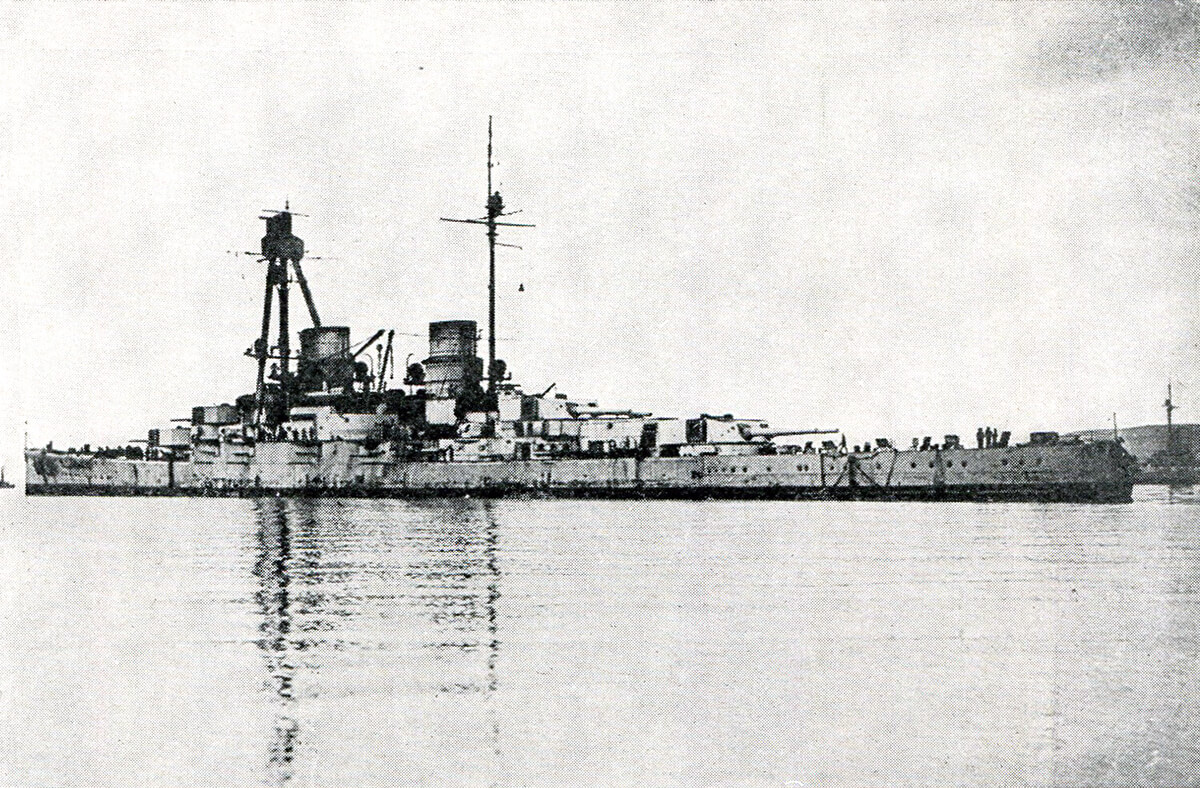 German battle cruiser SMS Derfflinger one of Admiral Hipper's ships at the Dogger Bank Action on 24th January 1915