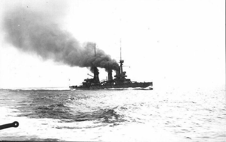 British battle cruiser HMS Indomitable one of the ships in Admiral Beatty's force at the Dogger Bank Acton on 24th January 1915