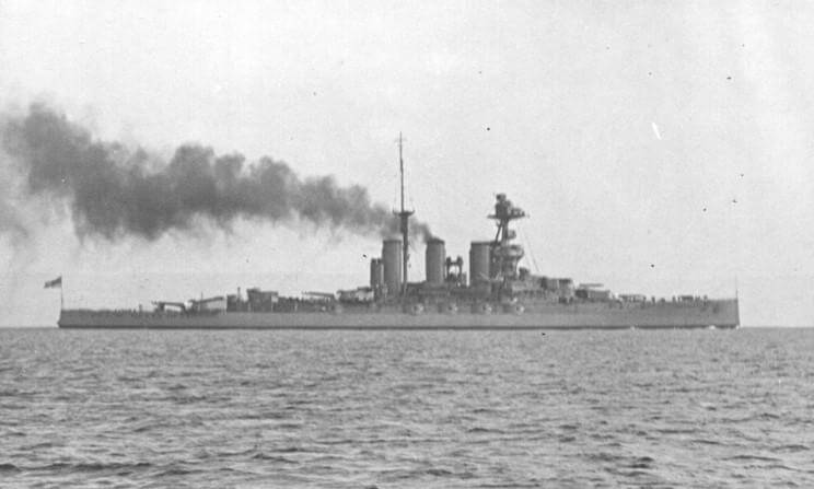HMS Tiger one of Admiral Beatty's battle cruisers at the Dogger Bank Action on 24th January 1915