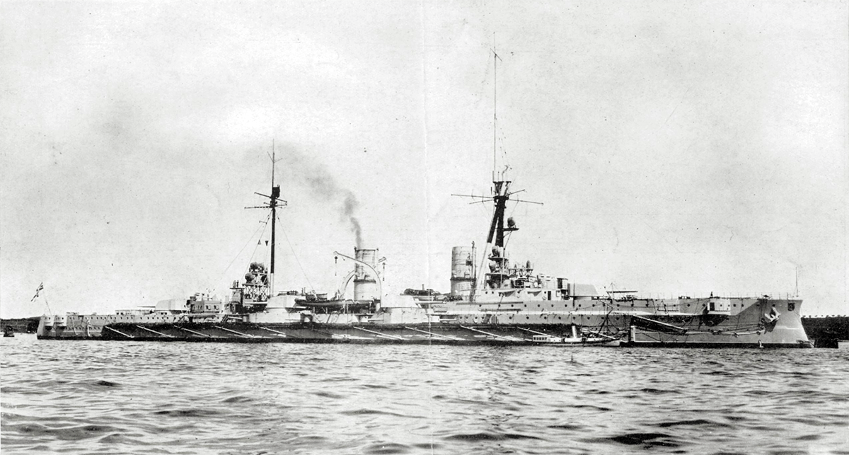 German armoured cruiser SMS Blucher sunk at the Dogger Bank Action on 24th January 1915