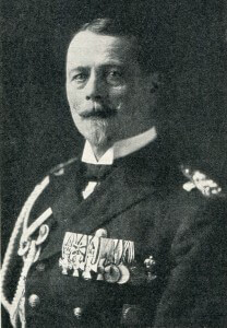 Admiral von Ingenohl retired by the Kaiser from command of the German High Seas Fleet following the Dogger Bank Action on 24th January 1915