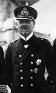 Rear Admiral Franz von Hipper who commanded the German squadron in the Battle of Dogger Bank on 24th January 1915 in the First World War