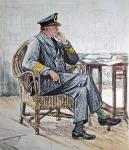 Vice Admiral Sir David Beatty commander of the British naval force at the Battle of Dogger Bank on 24th January 1915 in the First World War