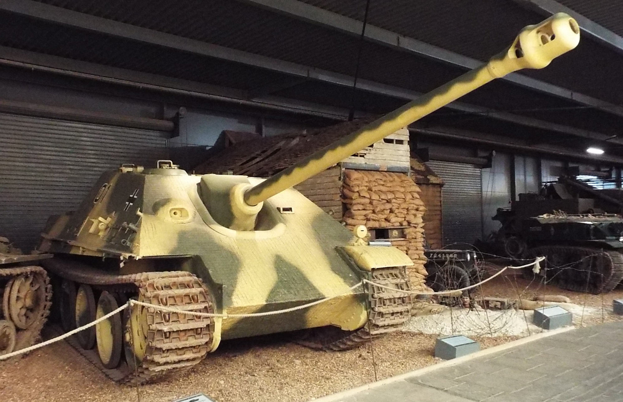 Lord Griffiths MC's Jagdpanther in the Land Warfare Hanger at the Imperial War Museum Duxford