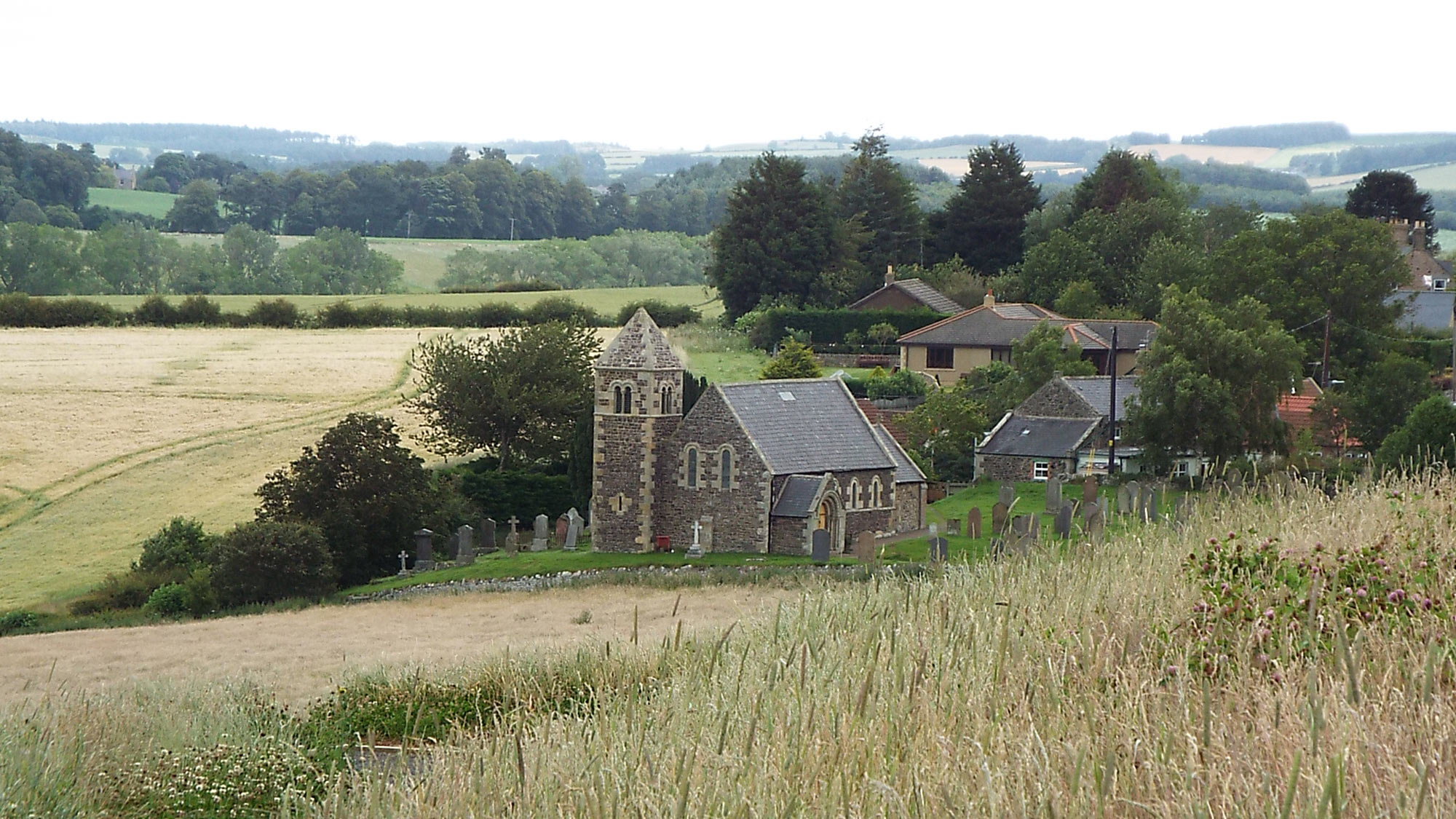 Battle of Flodden: Branxton Church behind the English left