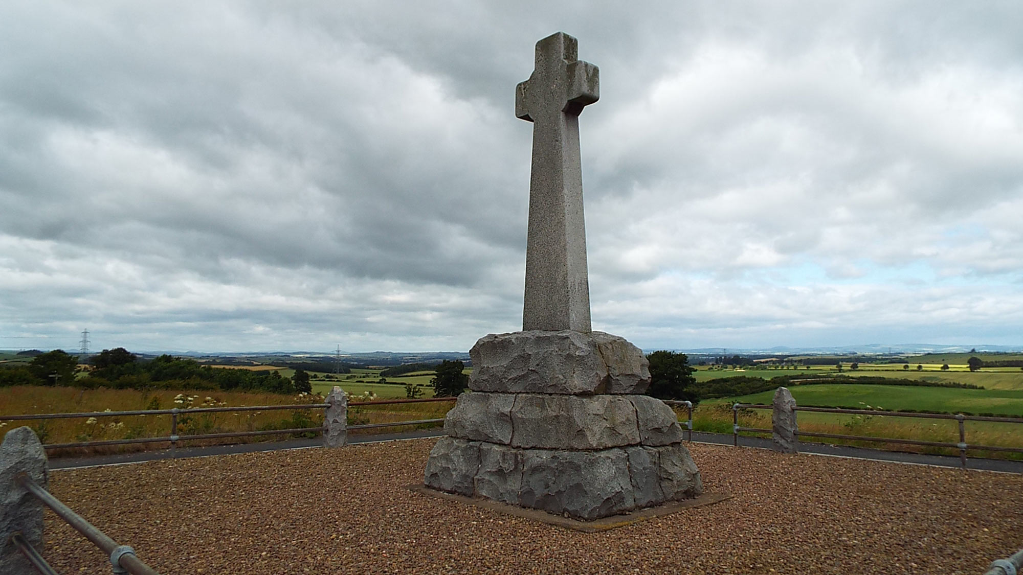 Battle of Flodden: The memorial cross positioned at the centre of the English position at the Battle of Flodden 9th September 1513