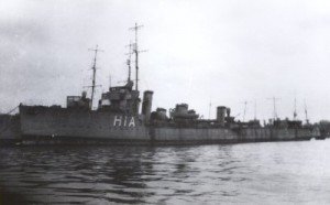 British Destroyer HMS Spitfire. Spitfire fought at the Battle of Jutland on 31st May 1916 in the 4th Destroyer Flotilla. She took part in torpedo attacks on the German battleship line