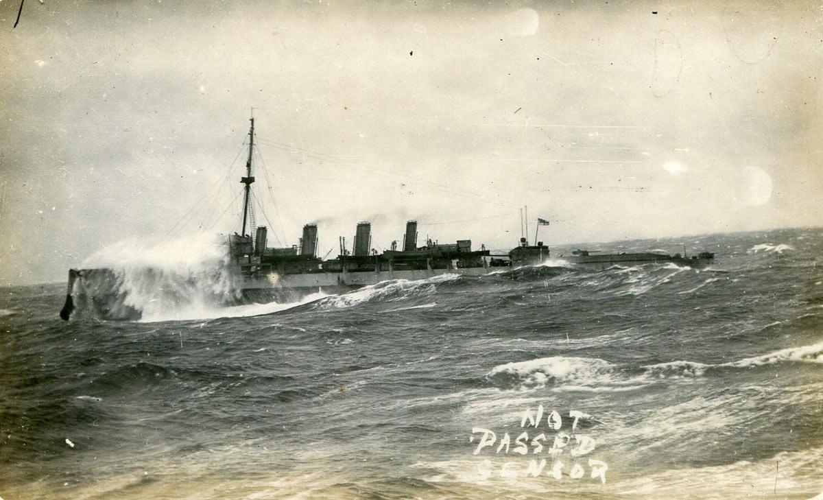 British Destroyer North Sea 1916