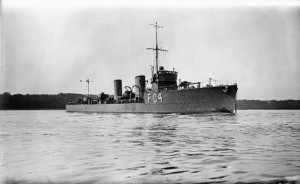 British Destroyer HMS Nerissa. Nerissa fought at the Battle of Jutland on 31st May 1916 in the 13th Flotilla