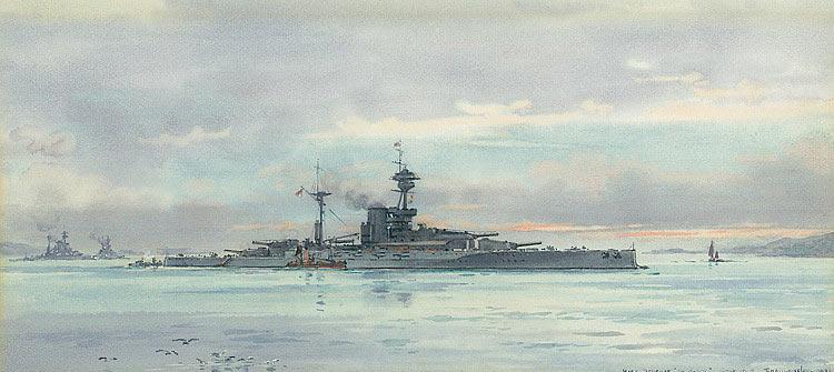 British Battleship HMS Revenge. Revenge fought at the Battle of Jutland 31st May 1916