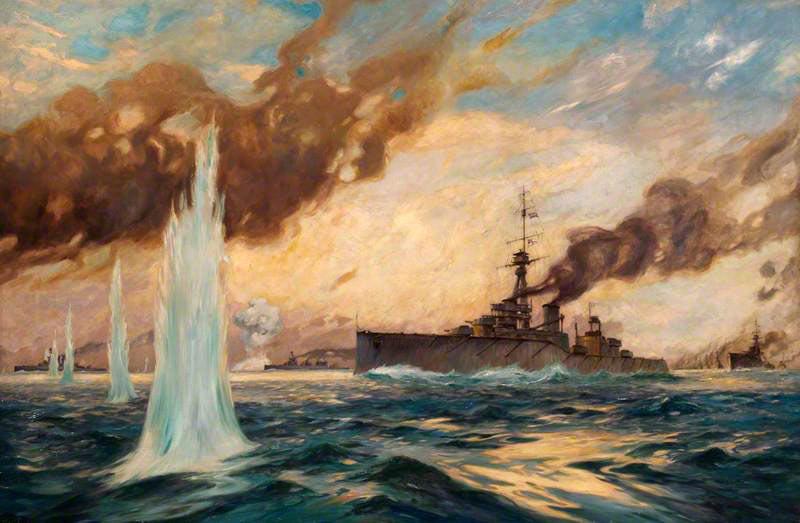German Battle Cruiser's 'Ran an den feind' or Suicide Attack