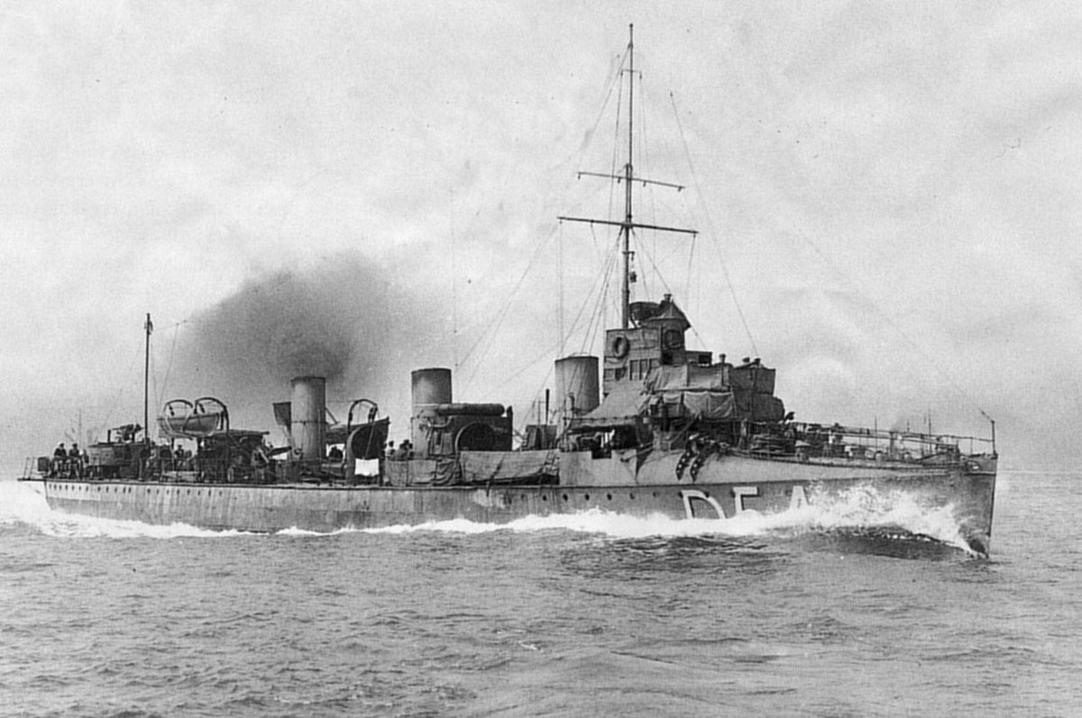 German Torpedo Boat/Destroyer at Sea in the First World War