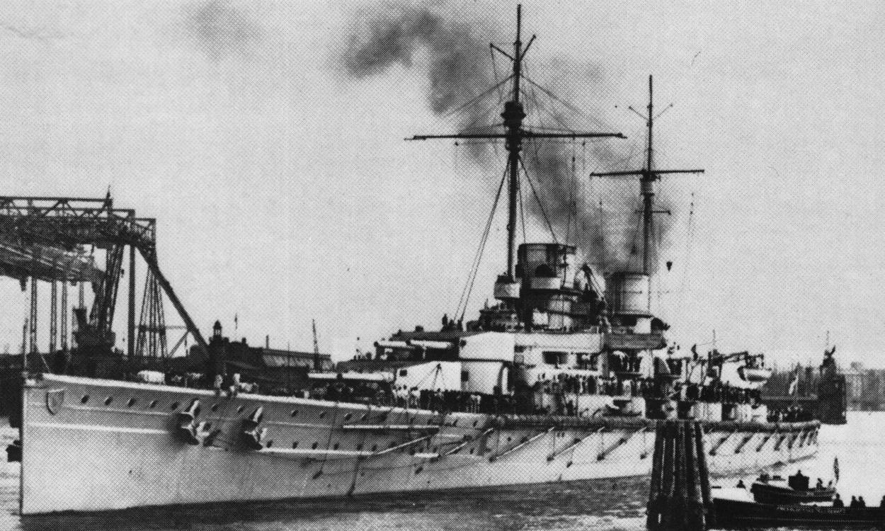 German Battle Cruiser SMS Derfflinger. Derfflinger fought at the Battle of Jutland in Vice-Admiral Franz Hipper's 1st Scouting Group