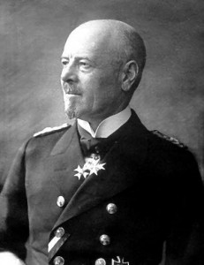Admiral Reinhard Scheer Commander in Chief of the German High Seas Fleet at the Battle of Jutland 31st May 1916: to buy a picture of Admiral Scheer click here