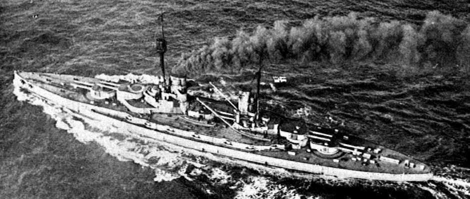 German Battleship SMS Grosse Kurfurst. Kurfurst fought at the Battle of Jutland on 31st May 1916