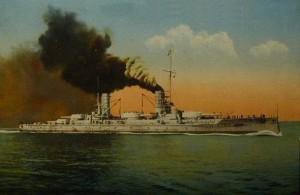 German Battleship SMS Kaiserin. Kaiserin fought at the Battle of Jutland on 31st May 1916