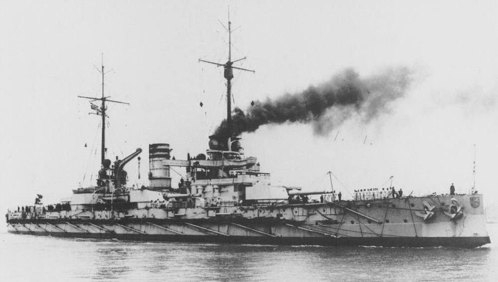 German Battleship SMS Nassau. Nassau fought at the Battle of Jutland on 31st May 1916