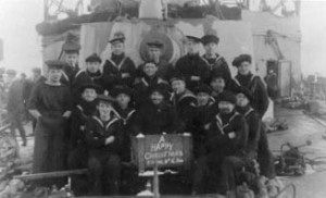 Members of the crew from HMS Black Prince sunk at the Battle of Jutland 31st May 1916 with all hands