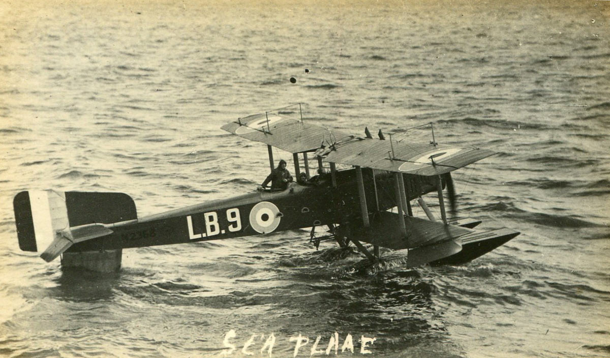 Short 184 Seaplane about to take off: as flown by Light Lieutenant Frederick Rutland from HMS Engadine in the opening phase of the Battle of Jutland on 31st May 1916 in the First World War