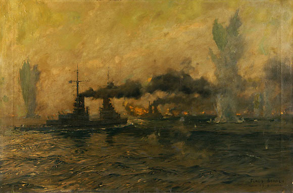 German High Seas Fleet during the night action Battle of Jutland 31st May 1916
