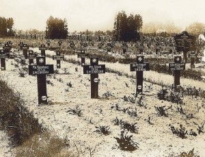 Graves of sailors from the German Battleship SMS Nassau killed at the Battle of Jutland on 31st May 1916