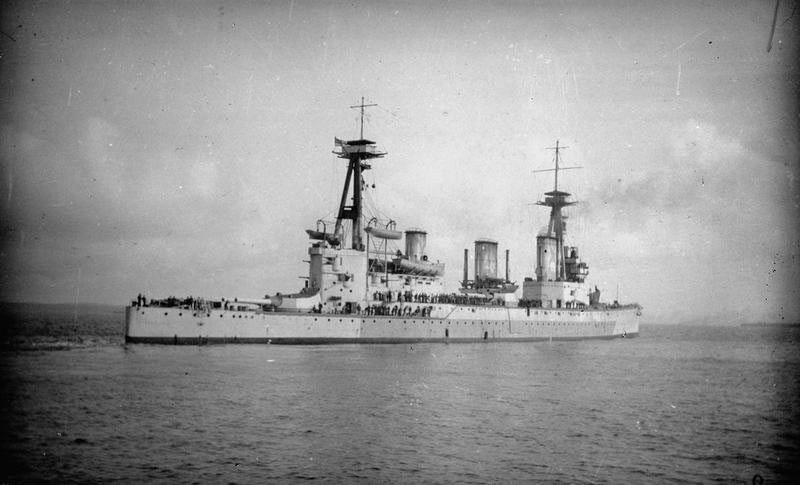 HMS Infefatigable sunk at the Battle of Jutland 31st May 1916