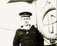 Seaman Johann Wilhelm Kinau of SMS Weisbaden. Kinau wrote the popular novel 'Seefahrt ist nott' and was killed at the Battle of Jutland when the Weisbaden was sunk.