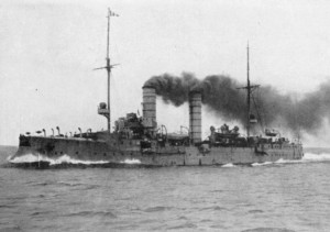 German Light Cruiser SMS Frauenlob sunk at the Battle of Jutland 31st May 1916