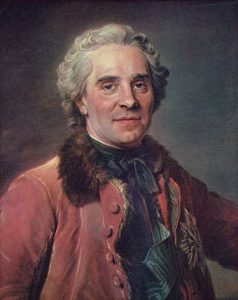 Marshal Maurice de Saxe commander of the French Army at the Battle of Lauffeldt 21st June 1747 in the War of the Austrian Succession
