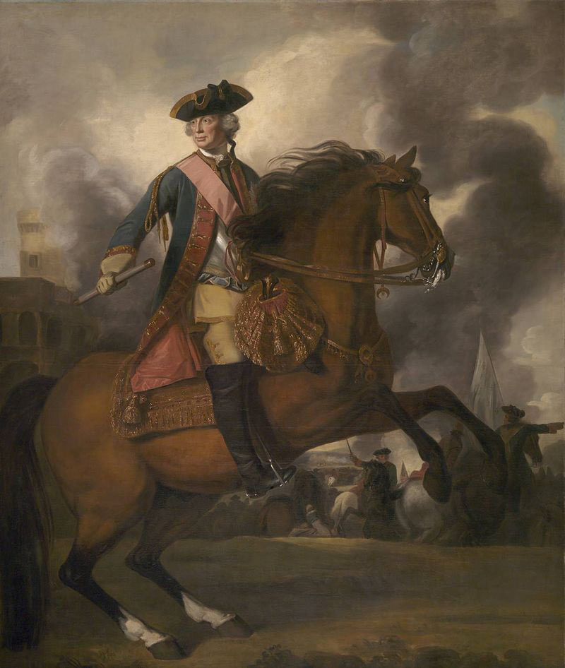 General Sir John Ligonier commander of the British columns at the Battle of Fontenoy on 30th April 1745 in the War of the Austrian Succession