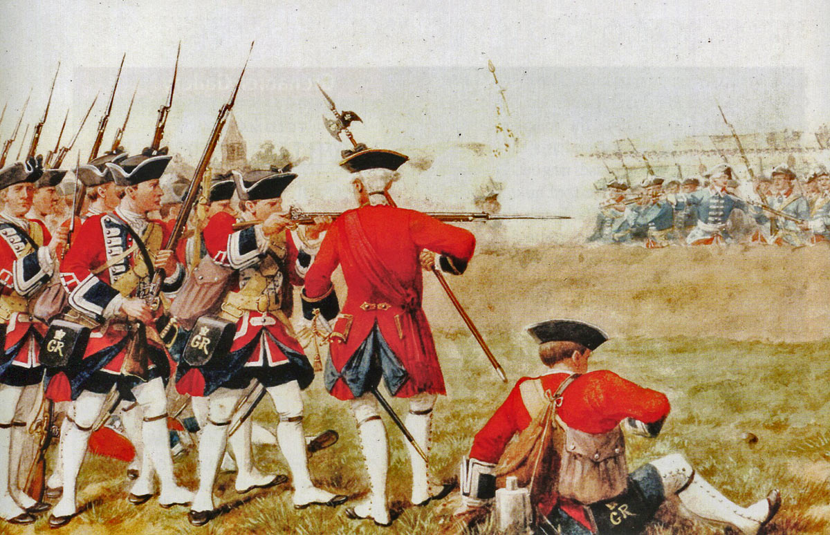 1st Foot Guards at the Battle of Fontenoy on 11th May 1745 in the War of the Austrian Succession