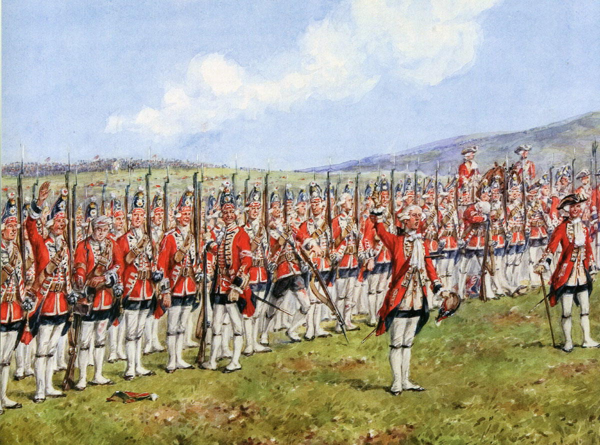 Lord Charles Hay and 1st Foot Guards at the Battle of Fontenoy on 11th May 1745 in the War of the Austrian Succession