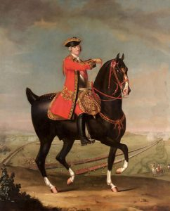 General Sir John Ligonier commander of the British and German contingents at the Battle of Rocoux on Battle of Rocoux 30th September 1746 in the War of the Austrian Succession