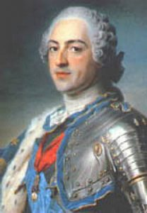 Louis XV King of France: Battle of Fontenoy on 11th May 1745 in the War of the Austrian Succession: picture by de la Tour
