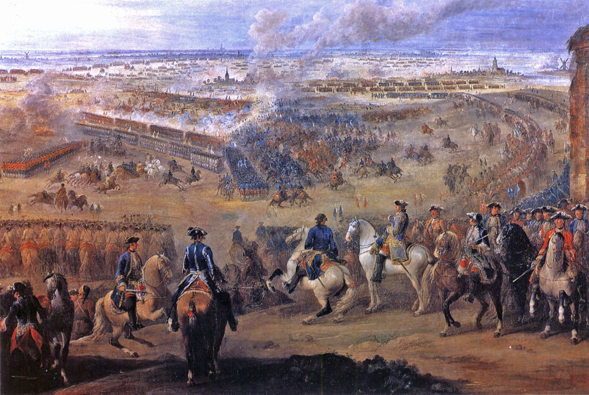 King Louis XV watches the Battle of Fontenoy on 11th May 1745 in the War of the Austrian Succession