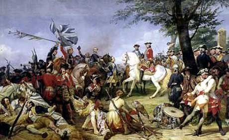 Marshal de Saxe celebrates victory over the British