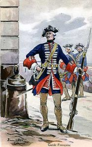 Garde Française: Battle of Dettingen fought on 27th June 1743 in the War of the Austrian Succession