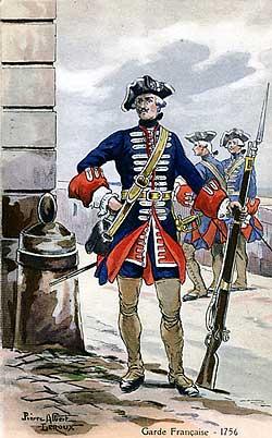 The Battle of Dettingen : a soldier of the Gardes Francaises