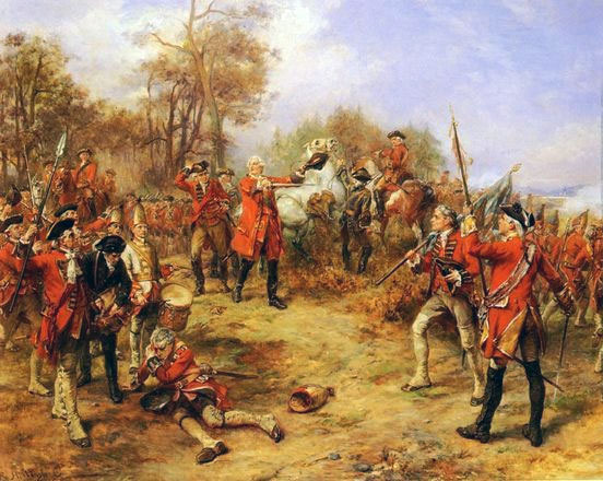 King George II at the Battle of Dettingen